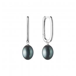 Gisella - Сребърни обеци с Перли АА 9 - 10 мм SK20460EL