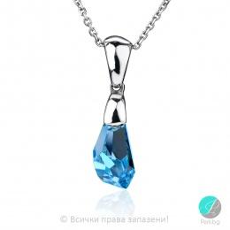 Alline - Сребърно колие с кристал Сваровски Aquamarine 21 мм 60151835