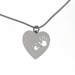 Love heart - Сребърна висулка Сърце 603029