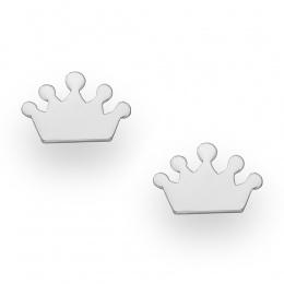 Crown 5 - Сребърни обеци Корона без Камък 70620888