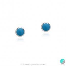 Diane - Сребърни обеци със син Тюркоаз 607813235ST