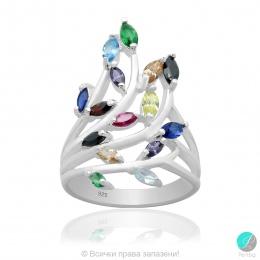 Alena - Сребърен пръстен с циркони mix 5370114148