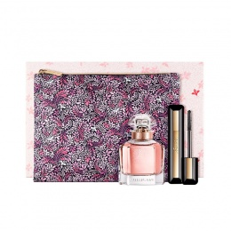 Комплект за жени Guerlain Mon Guerlain Florale - Парфюмна вода EDP 50 мл + Спирала за мигли Mascara Volume 01 8.5 мл + Несесер