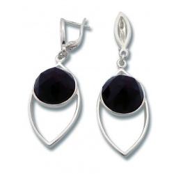 Сребърни обеци с камъни циркони
