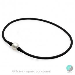 Magdalina - Колие силикон с Перла АА 13 - 14 мм 15300w-Колиета
