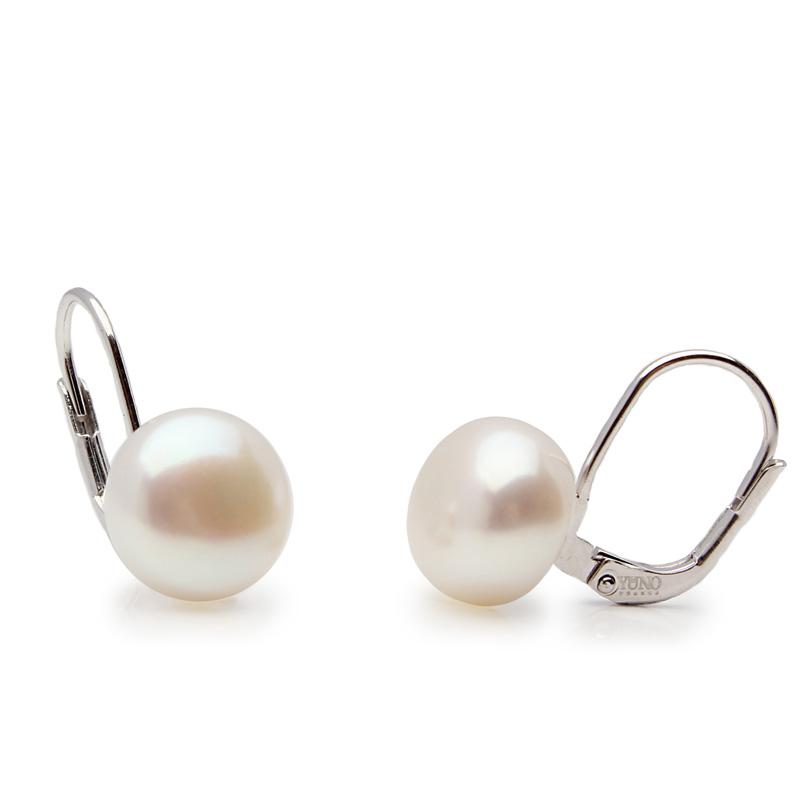 Edna - Сребърни обеци с Перла  АА 9.5 - 10 мм 10633-Обеци