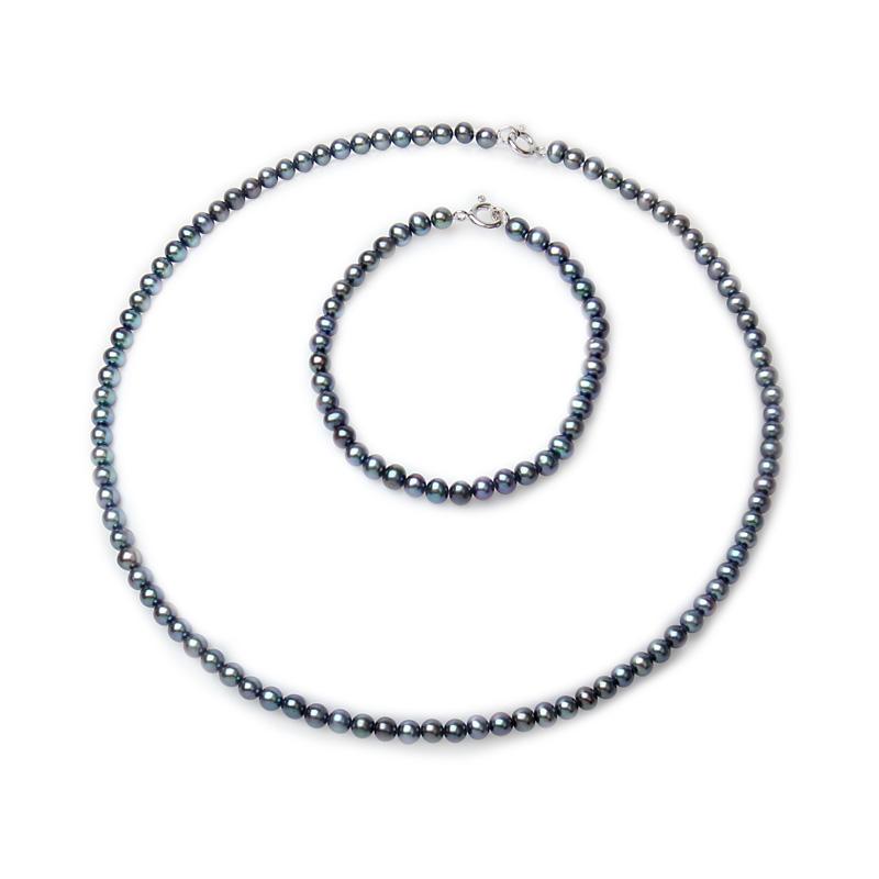 Kristy - Перлено колие и гривна комплект AA 4.5 - 5.5 мм 12742-Комплекти