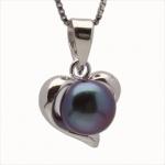 Vonnie -  Сребърна висулка Сърце с Перла AA 11696-Висулки