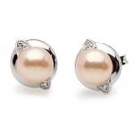 Algoma -  Сребърни обеци с перла АА  6.5 - 7 мм 12187-Обеци