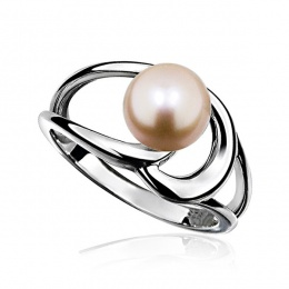 Eloisa - Сребърен пръстен с Перла АА 8 - 8.5 мм 14021R-Пръстени