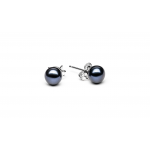 Sansa 2 - Сребърни обеци с перла AA  6.5 - 7 мм EFB07W-Обеци