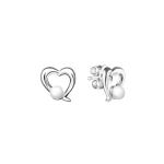 Pearl heart - Сребърни обеци сърце с Перли А 3.5 - 4 мм SK19230E-Обеци