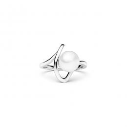 Edion 2 - Сребърен пръстен с Бяла Перла АА 7.5 - 8 мм SK20474RW