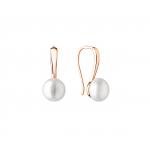 Adeline - Сребърни обеци с Перли АА и Златно розово покритие 9.5 - 10 мм sk20459GE-Обеци