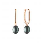 Gisella 2 - Сребърни обеци с Перли АА 9 - 10 мм и Златно розово покритие SK20461GEL-Обеци