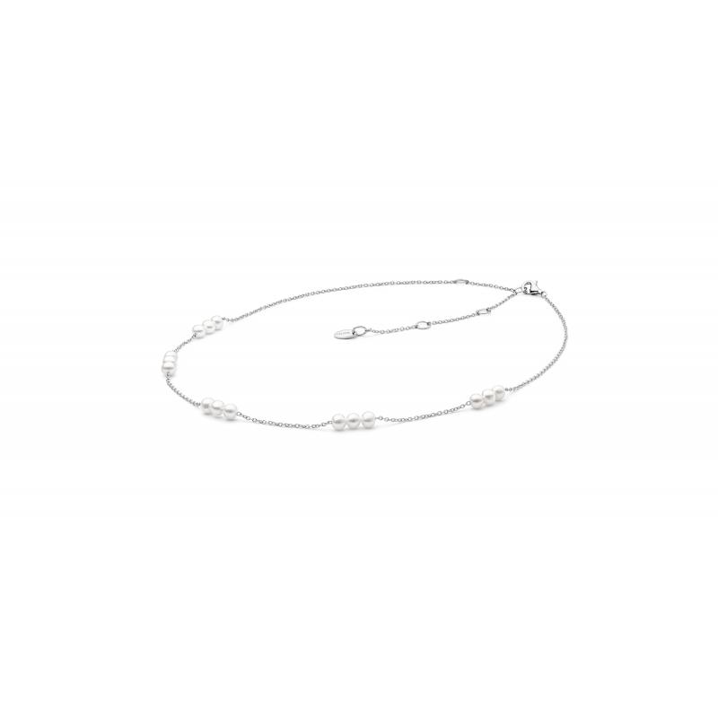 Caitlin - Сребърно колие с Перли А 4 - 4.5 мм SK20485N-Колиета
