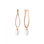 Callie - Сребърни обеци с Перли АА 7 - 8 мм и Златно розово покритие SK20487GEL-Обеци