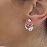 Ariel - Сребърни обеци с Циркони 1123a-Сребърни бижута