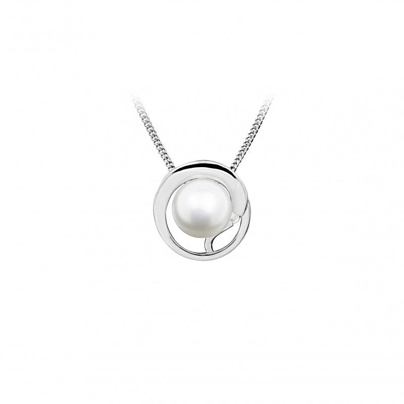 Disni - Сребърна висулка с Перла АА 8 - 9 мм 14228-Обеци