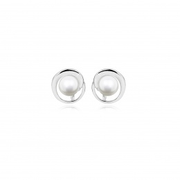 Disni - Сребърни обеци с Перли АА 6 - 7 мм 14229-Обеци