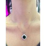 Iola - Сребърна висулка с Циркон цвят изумруд P1260-Сребърни бижута