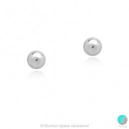 Bendida - Сребърни обеци Топче 268830-Сребърни бижута
