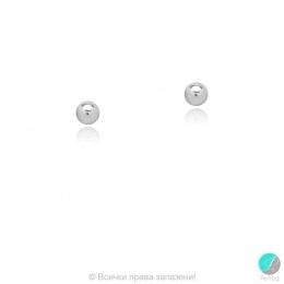 Bendida - Сребърни обеци мини Топче 268836-Сребърни бижута