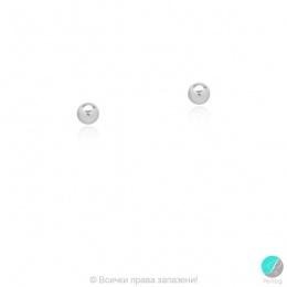 Bendida - Сребърни обеци Топче 4 мм 268837-Сребърни бижута