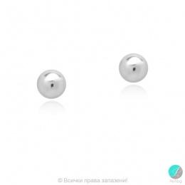 Bendida - Сребърни обеци Топче 547062357-Сребърни бижута