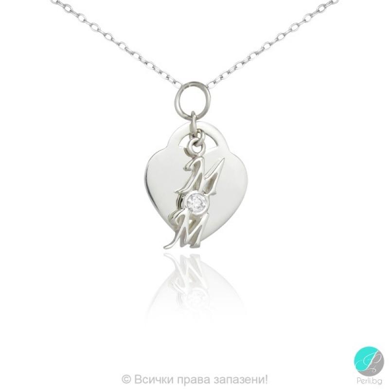Suzy - Сребърна висулка Сърце 5370111936-Сребърни бижута