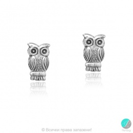 Owly - Сребърни обеци Бухал 5470614238