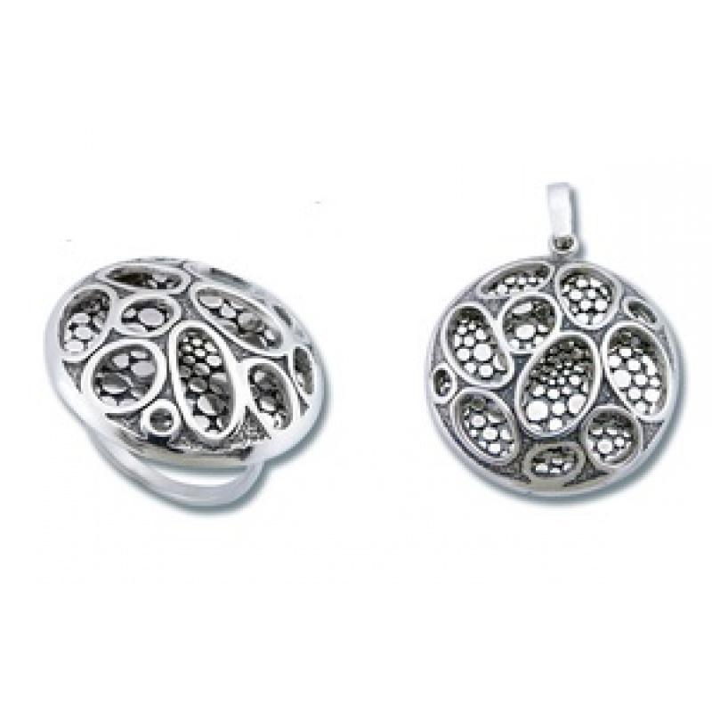 Сребърен комплект от Две изделия 8000835-Комплекти
