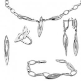 Сребърен комплект с Колие 8000923-Комплекти