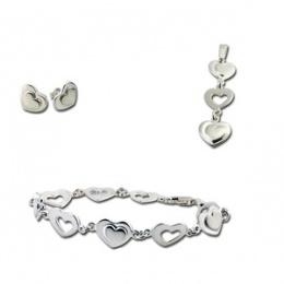 Сребърен комплект с Гривна 8000372-Комплекти