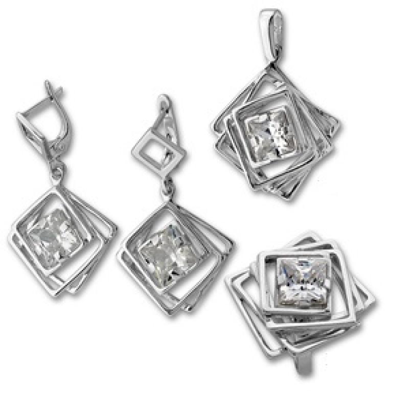 Сребърен комплект от Три изделия 8000917-Комплекти
