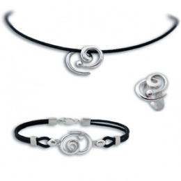 Сребърен комплект с Колие 8000625-Комплекти