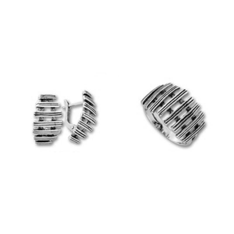 Сребърен комплект от Две изделия 8000959-Комплекти