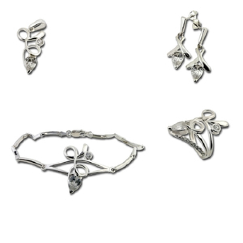 Сребърен комплект с Гривна 8000821-Комплекти