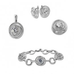 Bridget - Сребърен комплект с Гривна 8000916-Комплекти