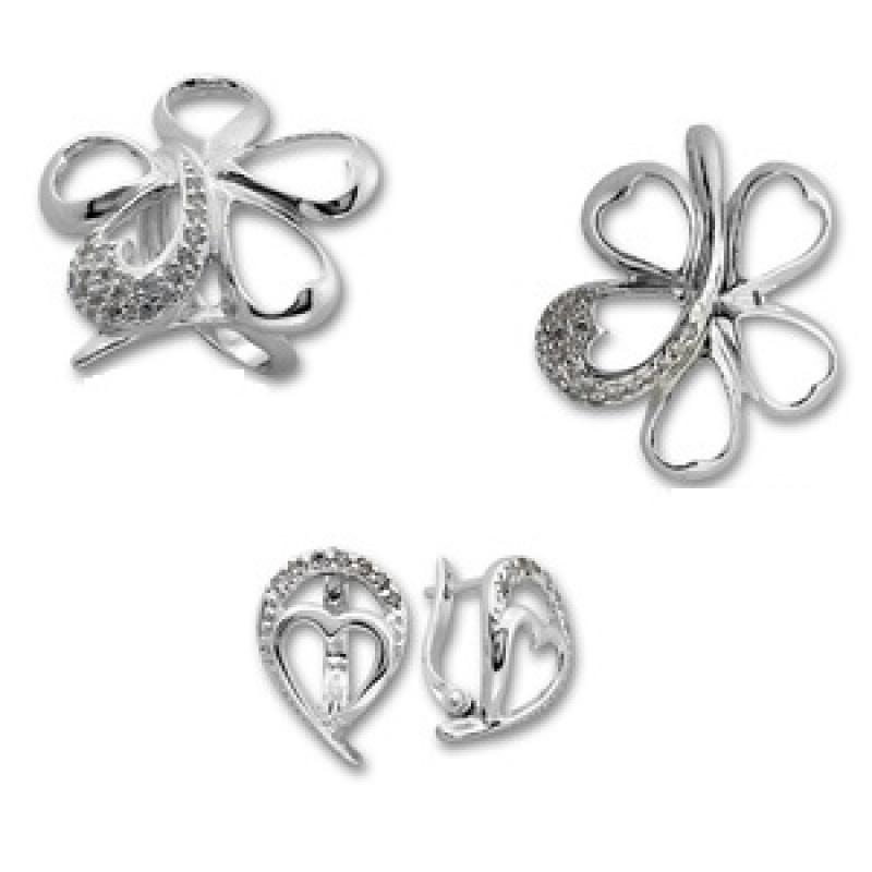 Сребърен комплект от Три изделия 8000951-Комплекти