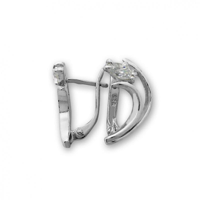 Isabelle - Сребърни обеци с Циркон 121278-Сребърни бижута