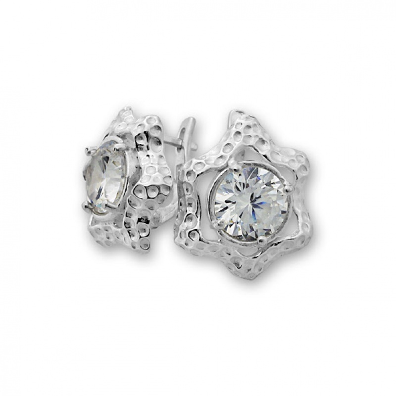 Ludivine - Сребърни обеци с Циркон 130023-Сребърни бижута