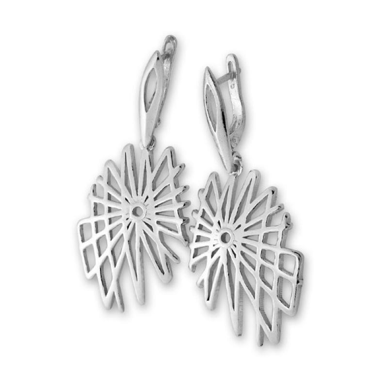 Cadice - Сребърни обеци без Камък 131010-Сребърни бижута