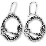 Cristella - Сребърен комплект от две части без Камъни - Обеци и Висулка 8000575-Сребърни бижута