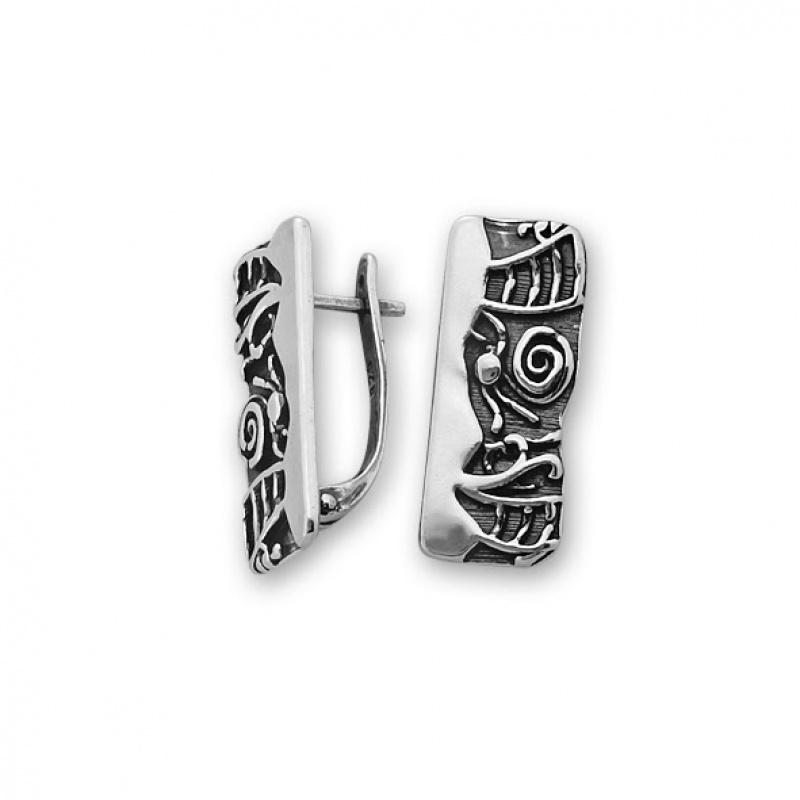 Weslli - Сребърни обици без Камък 132006-Сребърни бижута