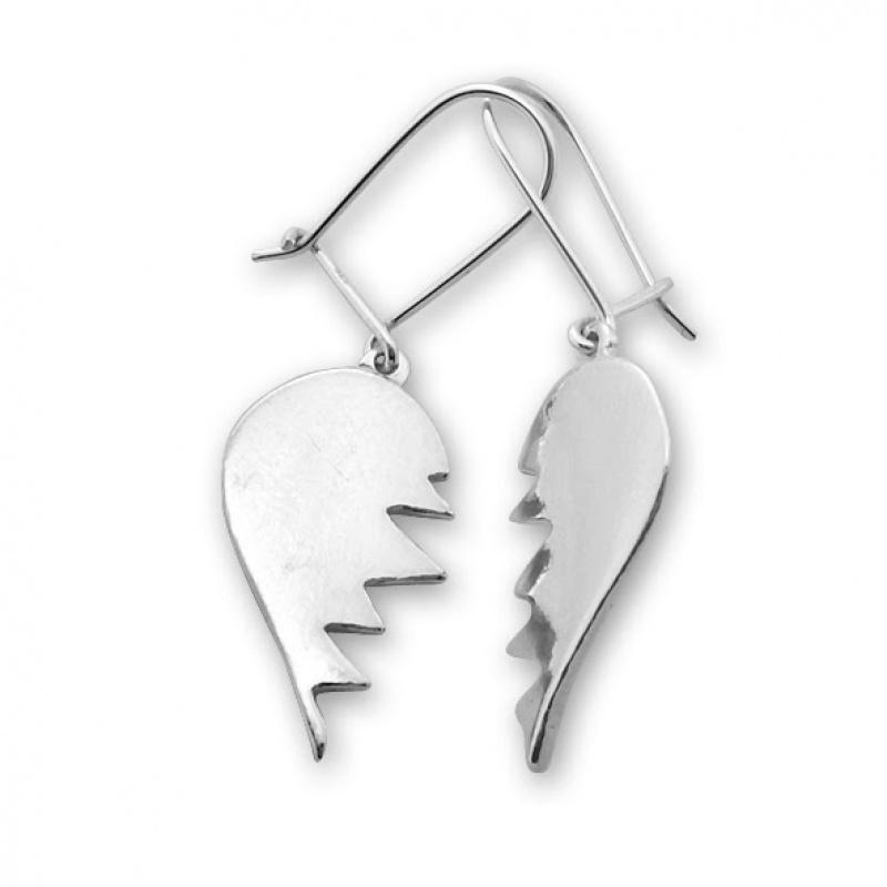 Josette - Сребърни обеци без Камък 132576-Сребърни бижута