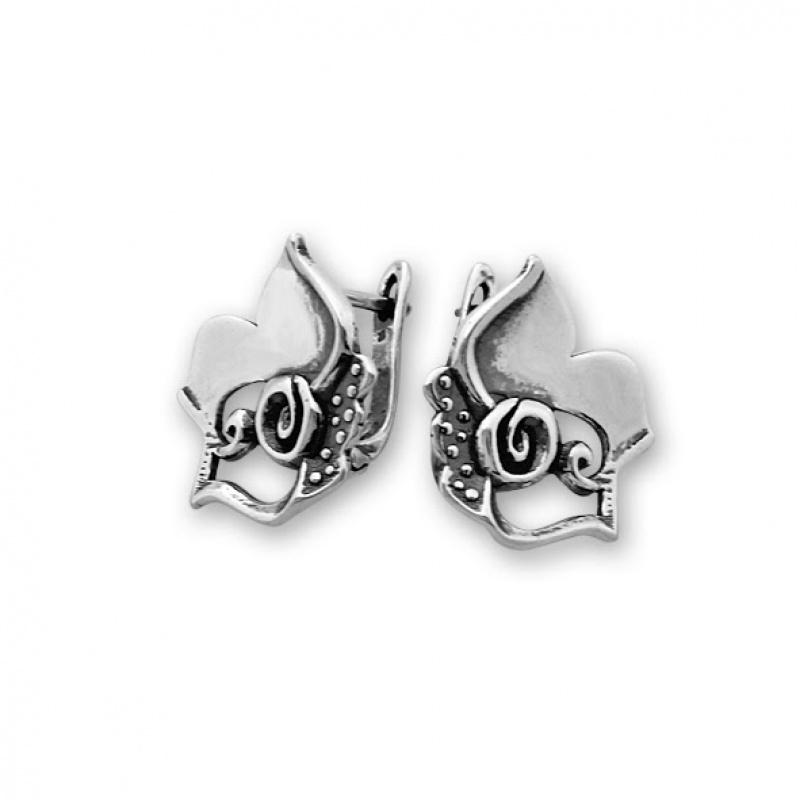 Kremena - Сребърни обеци без Камък 133005-Сребърни бижута