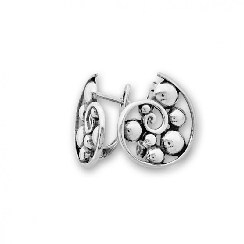 Gileber - Сребърни обеци без Камък 133009-Сребърни бижута