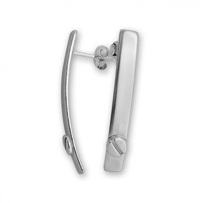 Luchere - Сребърни обеци без Камък 133016-Сребърни бижута