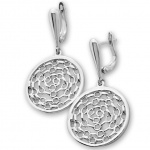 Lorencia - Сребърни обеци без Камък 136022-Сребърни бижута